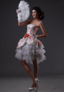 Tulle Sweetheart Evening Homecoming Dresses with Beading in Victoria