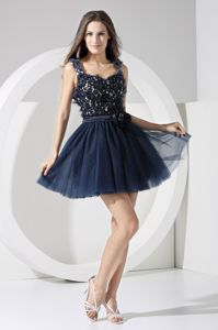 Mini-length Hand Made Flowers Homecoming Dresses with Cool Back