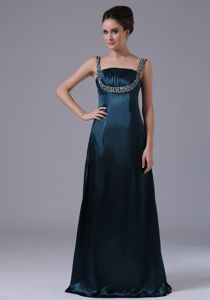 Beaded Straps Taffeta Homecoming Dresses in Navy Blue in Corpus Christi