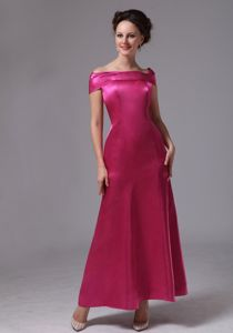 Hot Pink Off the Shoulder Evening Homecoming Dress in Duluth Georgia