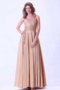 Plus Size Lace-up Strapless Peach Homecoming Dress with Beaded Waist