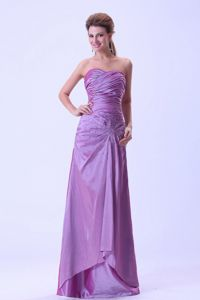 Vintage Lace-up Ruched Lavender Homecoming Dresses Fast Shipping