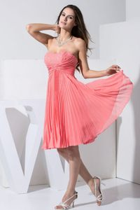 Best Pleated Short Watermelon Homecoming Dresses in Marion USA