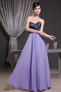 Pleated Light Purple Party Dress for Homecoming with Lace in Fashion