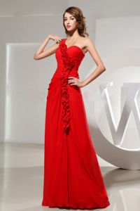 Classic One Shoulder Red Party Dress for Homecoming in Richmond USA