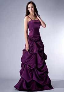 Spaghetti Straps Pick-ups Dark Purple Homecoming Dress in Portage USA