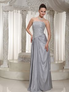 Strapless Beaded Gray Formal Party Dress for Homecoming Wholesale