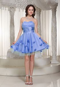 Charming Lilac Short Party Dress for Homecoming with Floral Embellishment