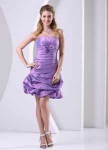 Arnedo Lavender Ruched and Bowknot Short Homecoming Dress