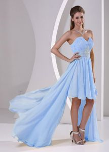 High-low Beaded Blue Detachable Short Homecoming Dresses in Arona