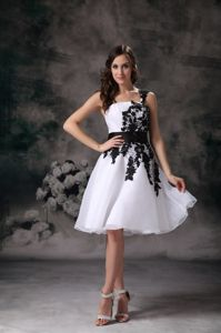 One Shoulder Mini Arriondas Homecoming Dresses Appliques Accent