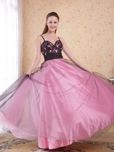 Spaghetti Straps Rose Pink Homecoming Dresses For Prom in Ayamonte