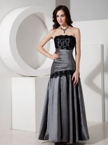 Grey A-Line Lace Homecoming Dress On Sale in Banyalbufar for Elegance