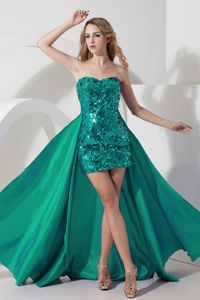 Detachable Turquoise Homecoming Dresses in Cerdanyola with Sequin