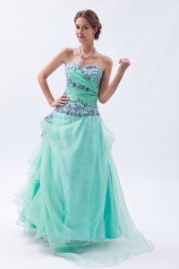 Apple Green Embroidery with Beading Homecoming Dresses For Juniors