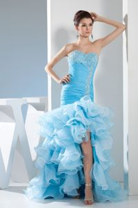 Mermaid Beading and Ruffles Homecoming Princess Dresses in Masquefa