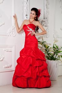 Mermaid Homecoming Princess Dresses with Pick-ups and Appliques