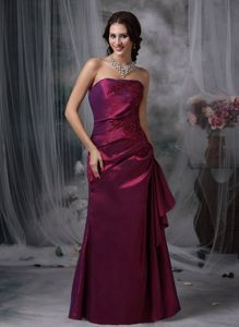 Column Appliques Accent Purple Homecoming Dress in Sant Fruitos de Bages