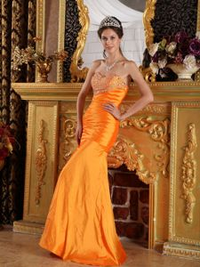 Orange Sheath Sweetheart Homecoming Dresses Beaded in Timsbury Avon