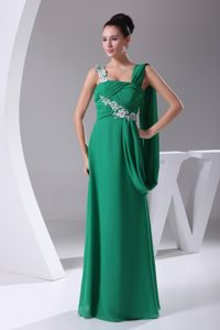 Straps Green Appliques and Ruches Homecoming Dress in Metzingen Germany