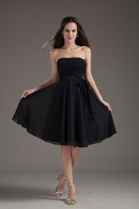 Ruches Strapless Empire Black Sashes Homecoming Dress in Mettmann Germany