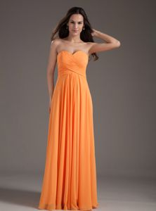 Cute Sweetheart Ruching Empire Orange Homecoming Dress in Merzig Germany