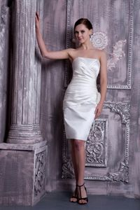 White Strapless Ruches Knee-length Homecoming Dress in Marburg Germany