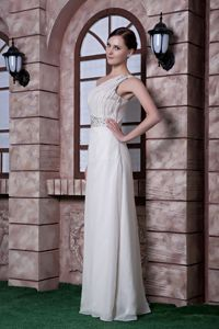 White One Shoulder Beading Ruches Party Homecoming Dress in Mainz Germany