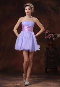 Mini-length Strapless Lilac Beaded Homecoming Dress in Ingolstadt Germany