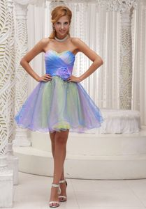 Flower Sweetheart Ruches Ombre Color Homecoming Dress in Erding Germany