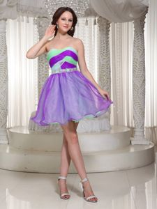 Duisburg Germany Multi-color Beaded Ruched Mini-length Homecoming Dress