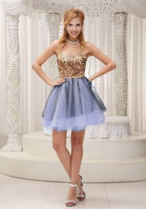 Strapless Leopard Sweetheart Beaded Homecoming Dresses in Dachau Germany