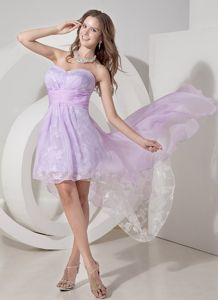 Breisach Germany Lilac A-line High-low Sweetheart Homecoming Dance Dress