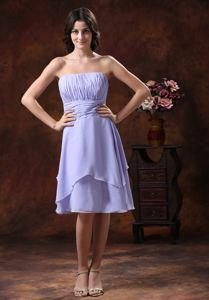 Lilac Strapless Ruches Empire Homecoming Party Dress in Backnang Germany