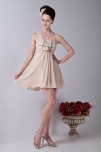 One Shoulder Champagne Ruches Homecoming Dress in Ahrensburg Germany