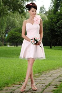 Flowers Light Pink One Shoulder Homecoming Party Dress in Aachen Germany