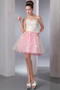 Colorful Appliques Homecoming Dress Sweetheart Mini-length