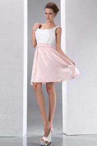 Scoop Mini-length Homecoming Dresses on Sale in White and Pink