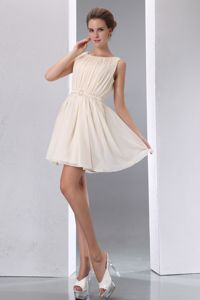 Champagne Scoop Mini-length Celebrity Homecoming Dress