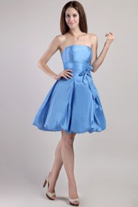 Strapless Knee-length Blue Discount Homecoming Dress in Arles