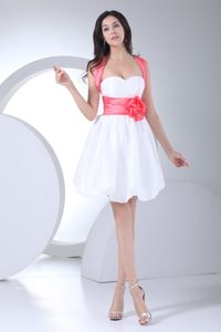 White Mini-length Straps Homecoming Princess Dresses in Caen
