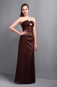 Beading Strapless Brown Homecoming Dresses in Halton Hills Ontario