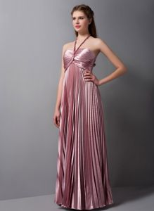 Pleated Adjustable Halter Top Cool Back Homecoming Dance Dresses