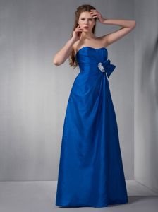Taffeta Sweetheart Appliques Royal Blue Junior Homecoming Dresses