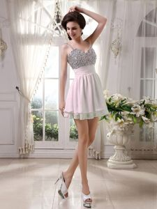 Chic Beaded Straps Homecoming Dance Dresses in Repentigny Quebec