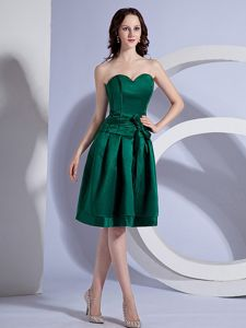 Bowknot Sash Sweetheart Green Taffeta Vintage Homecoming Gowns