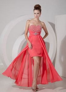 Sherbrooke Quebec Sweetheart Beading High-low Homecoming Dress