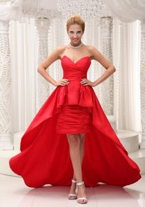 Taffeta High-low Red Richmond Hill Ontario Junior Homecoming Dress