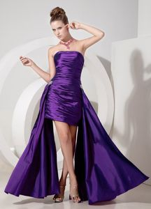 Ruched Strapless Purple Longueuil Quebec Homecoming Court Dress