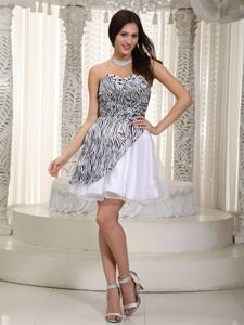 Zebra Sweetheart Short Brossard Quebec Junior Homecoming Gowns
